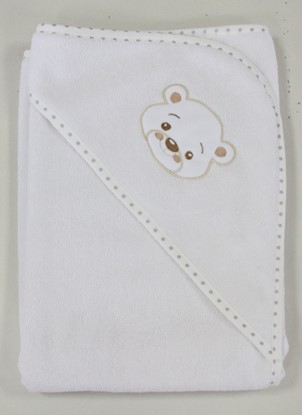 Picture of Cotton hooded towel - 100 x 100 cm - White
