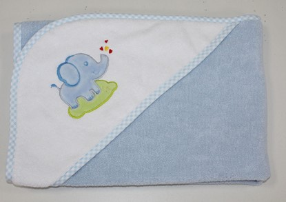 Picture of Cotton hooded towel - 100 x 100 cm - Blue
