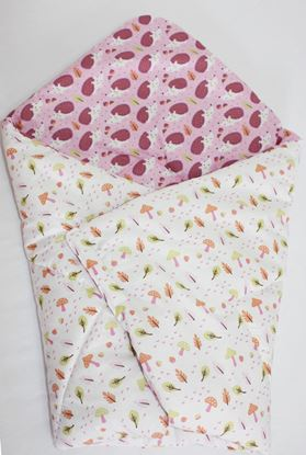 Picture of Cotton  carrier  blankets 2 in 1 - Rose hedgehog