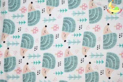 Picture of Bamboo tetra  blanket  - 100 x 100 cm - Hedgehogs