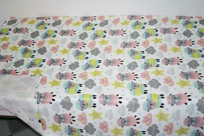 Picture of Bamboo tetra  blanket  - 120 x 100 cm - Colorful  Sheep