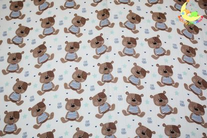 Picture of Bamboo tetra  blanket  - 100 x 100 cm -  Cute Teddy