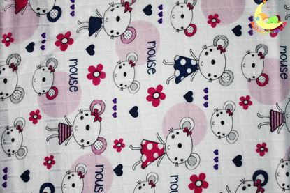 Picture of Bamboo tetra  blanket  - 120 x 100 cm - Mouse