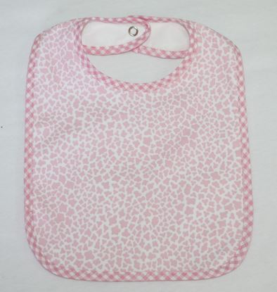 Picture of Baby bib with waterproof lining  - Rose leopard