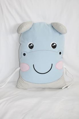 Picture of Pillow - Hippo - Blue-grey
