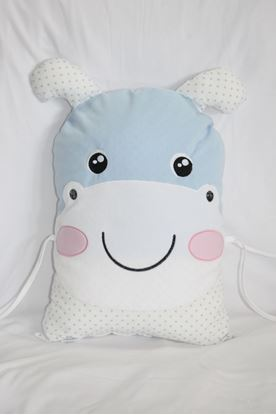 Picture of Pillow - Hippo - Blue-white
