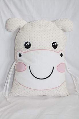 Picture of Pillow - Hippo - Rose