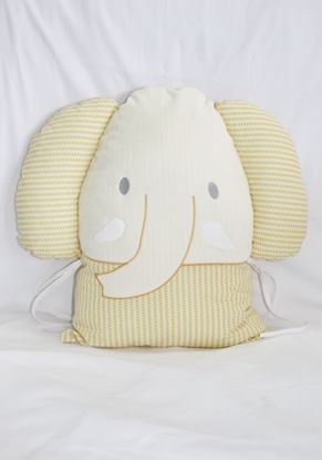 Picture of Pillow - Elephant - Yellow