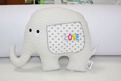 Picture of Pillow - Elephant Love - Grey  stripes