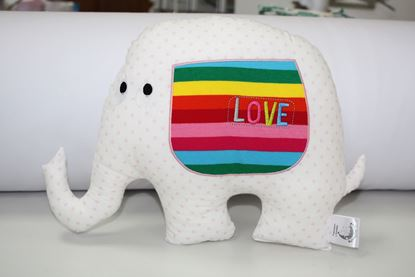Picture of Pillow - Elephant Love - rose dots