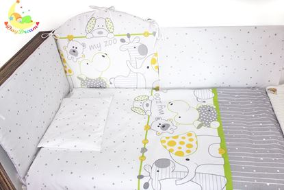 Picture of 2 pieces bedding set - Green zoo
