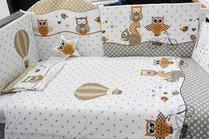 Picture of 2 pieces bedding set - Beige Owls