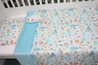 Picture of Bamboo set with blanket size 100x80, pillow, cover for pillow and star - Clouds elephant
