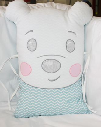 Picture of Pillow - Teddy- blue