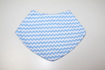 Picture of Baby scarf bib -  blue zigzag
