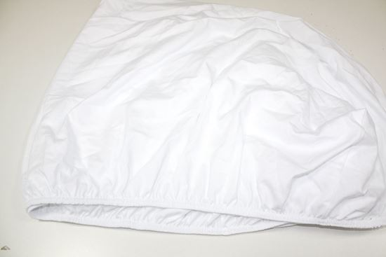 Picture of Cotton sheet with elastic  - White