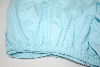 Picture of Cotton sheet with elastic - Blue