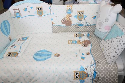 Picture of 2 pieces bedding set - Blue Owls