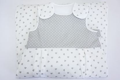Picture of Sleeping bag  6 - 36 months  - Grey hearts