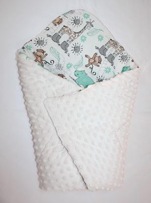 Picture of Bamboo carrier  blankets 2 in 1 -  Giraffe + minky