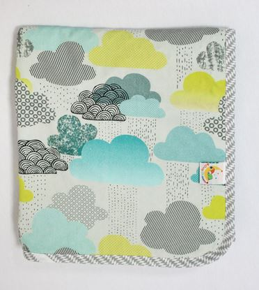 Picture of Bamboo minky blanket - Clouds 120 x 100 cm