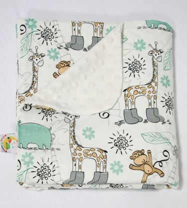 Picture of Bamboo minky blanket  - Giraffe  100 x 80cm