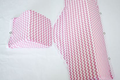Picture of Baby wedge cushion - Pink Zig-Zag