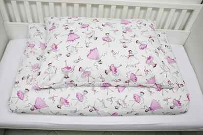 Picture of 2 pieces bedding for bed size 200x90cm - Ballerinas