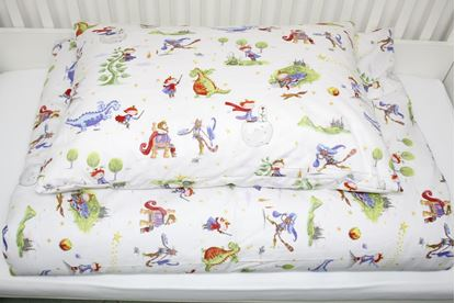 Picture of 2 pieces bedding for bed size 200x90cm - Fairy tale M