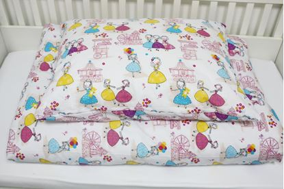 Picture of 4 Pieces bedding set for bed size 200 x 90 cm  - Princess