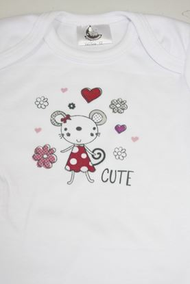 Picture of Baby body - dugi rukav -  Cute mouse