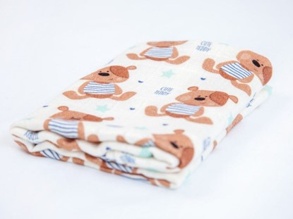 Picture of Children swaddle blanket 100% bamboo - Cute Teddy