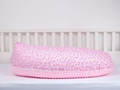 Picture of Nursing pillow - rose triangles + pink minky