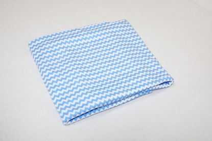 Picture of Cotton blanket - Blue ZigZag