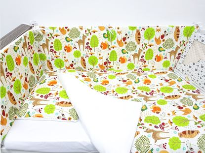 Picture of 6 pieces baby bedding  -  100% CV Bamboo - Forest animals