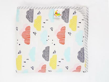 Picture of Cotton minky blanket 100x80cm - Clouds