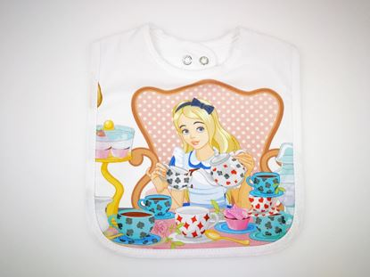 Picture of Baby bib with waterproof lining  - Alice in wonderland 1