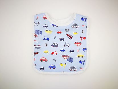 Picture of Baby bib with waterproof lining  - Cars