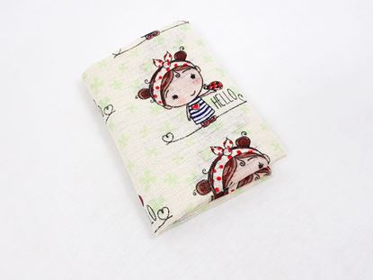 Picture of Cotton tetra nappies - Girl with a ladybug