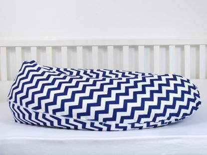 Picture of Nursing pillow - Marine blue Zigzag