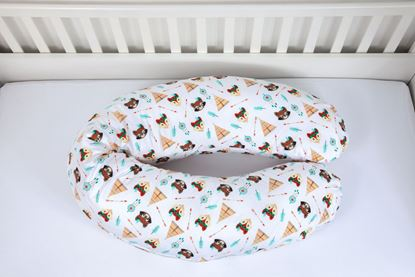 Picture of Nursing pillow cover -  Tents and Foxes