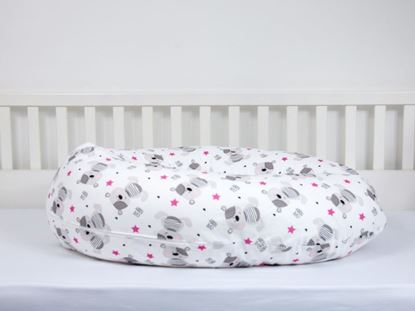 Picture of Nursing pillow cover -  Teddy pink