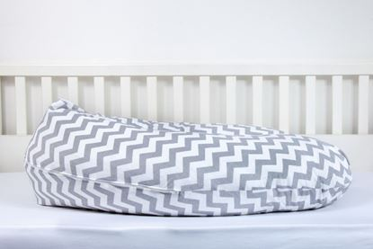 Picture of Nursing pillow cover -  Grey zigzag