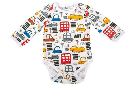 Picture of Baby body - designer - White cars