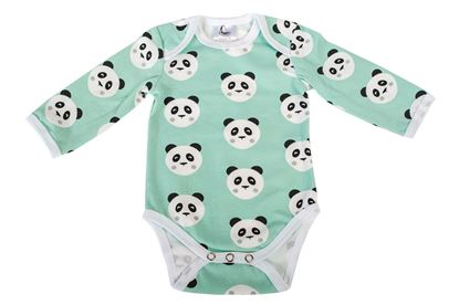 Picture of Baby body long sleeve - Mint panda