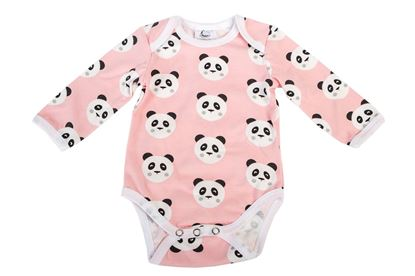 Picture of Baby body long sleeve - Rose panda