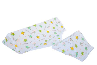 Picture of Baby wedge cushion - Green stars