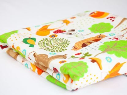Picture of Bamboo minky blanket  - Forest animals   100 x 80 cm