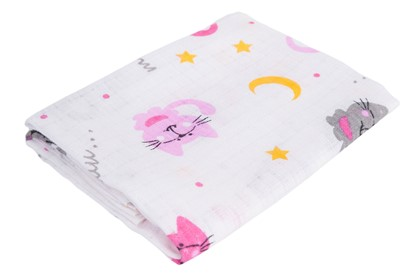 Picture of Children nappy 100% cotton - Cats