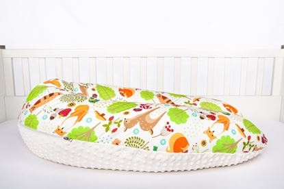 Picture of Nursing pillow Bamboo - Forest animals
